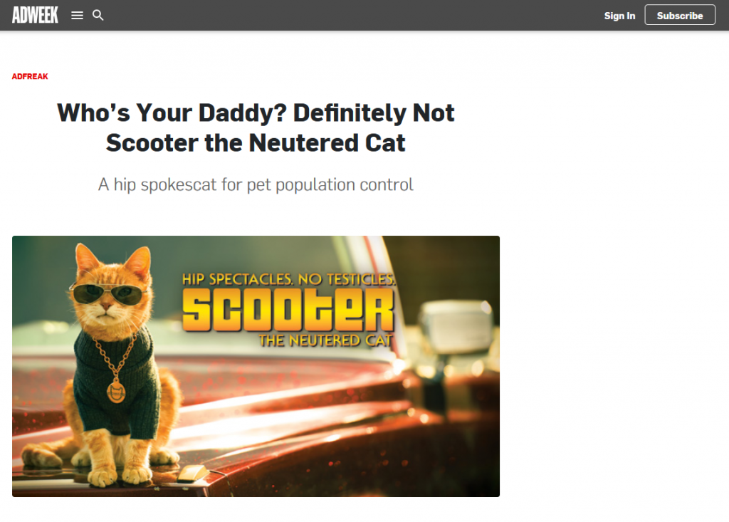 Who's Your Daddy? Definitely Not Scooter the Neutered Cat